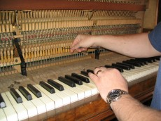 Piano regulation by experienced piano tuner